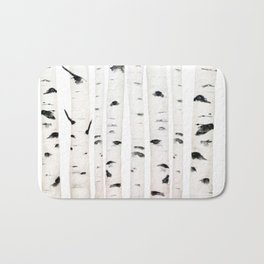 birch horizontal Bath Mat