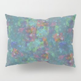 Blue and green abstract painting Pillow Sham