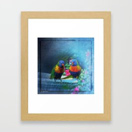 Rainbow Lorikeets Framed Art Print