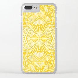 Solana, fall golden mandala Clear iPhone Case