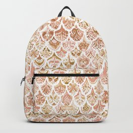 PAISLEY MERMAID Rose Gold Fish Scales Backpack