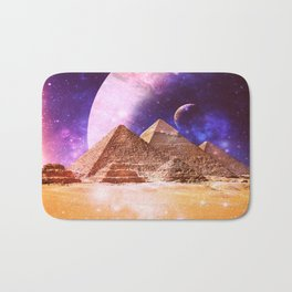Galaxy Pyramids Bath Mat