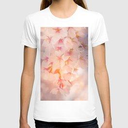 Floral Photography. Japanese Sakura Pastel Flower Photo Print. T-shirt