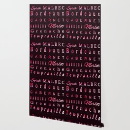 Red Wine Types Typography Poster Wallpaper