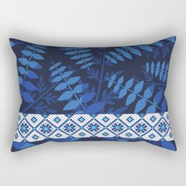 BLUE FERNS Rectangular Pillow