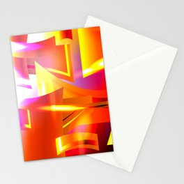 Golden Angelic Armor (Geometric Abstract Digital Art) #08 Stationery Cards
