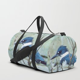 Young Belted Kingfisher (Repost) Duffle Bag
