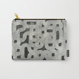 retro swirls, black and white Carry-All Pouch