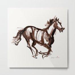 Horse (Chestnut) Metal Print