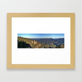Three Sisters, Jamison Valley, Blue Mountains, Sydney Framed Art Print
