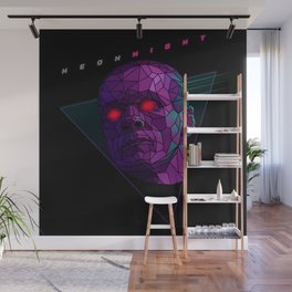 Neonnight 80s cyborg Wall Mural