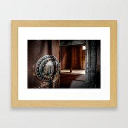 Industrial halt Framed Art Print