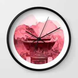 Vietnam Quoc Tu Giam Temple Hanoi capital Wall Clock
