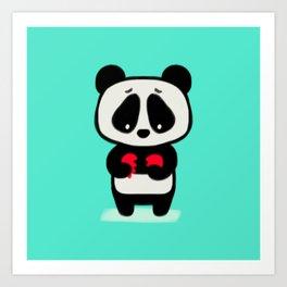 Sad Panda Art Print