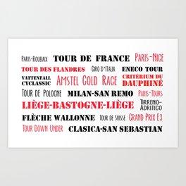 Cycling races Art Print