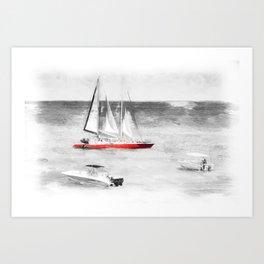 Barbados Sea Art Art Print