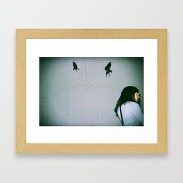 Birds attack Framed Art Print