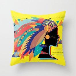 Native Indian Throw Pillow