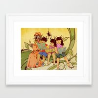 fairy tale Framed Art Prints featuring Fairy Tale by Radical Ink by JP Valderrama
