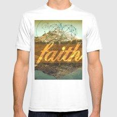 FAITH (1 Corinthians 13:13) MEDIUM Mens Fitted Tee White