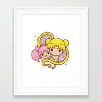 sailormoon Framed Art Prints featuring Sailor Moon Princesses by Azul Piñeiro