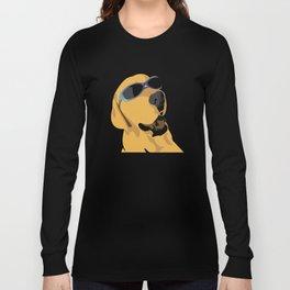 Sunglass dog blue Long Sleeve T-shirt