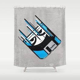Bad Data: Free Fall  Shower Curtain