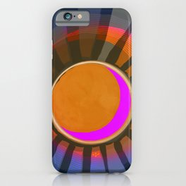 Full Moon Rays iPhone Case