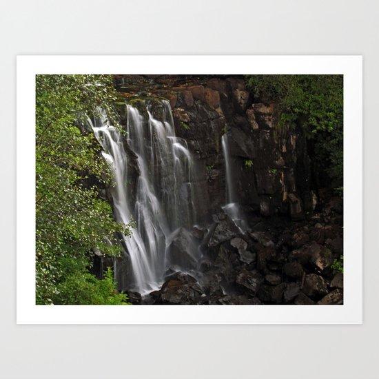 Aros Park Waterfall Art Print