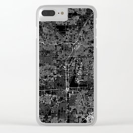 Las Vegas Black Map Clear iPhone Case