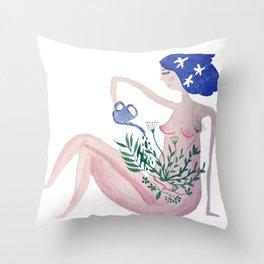 Self love I am enough Throw Pillow