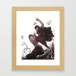 Sketchy Kuroo Framed Art Print