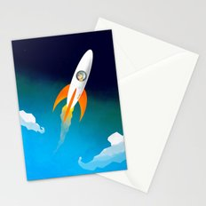 Rocket to the stars! Stationery Cards