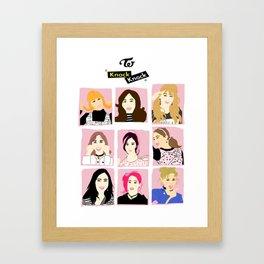 Knock Knock! Pink Version Framed Art Print