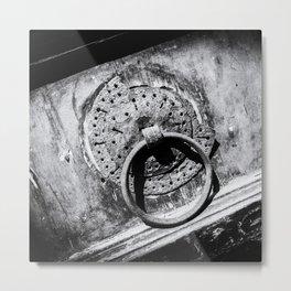 Doors of the World | Close-up Wooden Door with Doorknob in Crete, Greece, Europe II | Black & White | Travel Photography | Photo Print | Art Print Metal Print