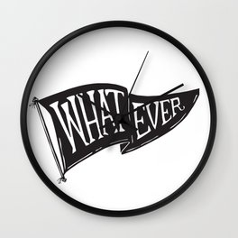 Whatever Flag Wall Clock