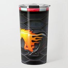 Firey Mustang Travel Mug