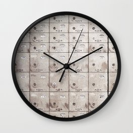 Chests with numbers Wall Clock