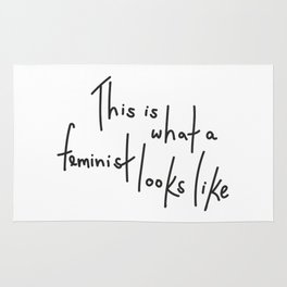 This is what a feminist looks like Rug