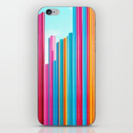 Colorful Rainbow Pipes iPhone Skin