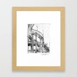 Bridge Underside Framed Art Print