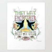 grateful dead Art Prints featuring Grateful Dead Art Print by LaurenflanaganART