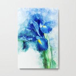 Underwater Iris Metal Print