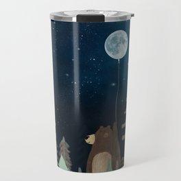 the moon balloon Travel Mug