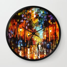 Tardis Art Stay Looking Wall Clock
