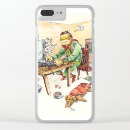 Hero and his Superdog Clear iPhone Case