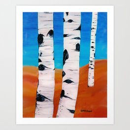 Wyoming Aspens Art Print