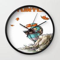 ninja Wall Clocks featuring NINJA by Don Kuing