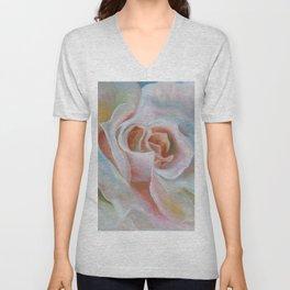 White Rose Unisex V-Neck