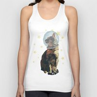 space cat Tank Tops featuring Space Cat. by Dani Does Art